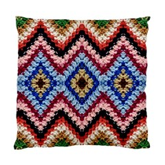 Colorful Diamond Crochet Standard Cushion Case (one Side)  by Costasonlineshop