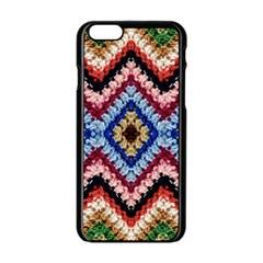 Colorful Diamond Crochet Apple Iphone 6/6s Black Enamel Case by Costasonlineshop