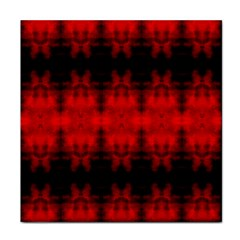 Red Black Gothic Pattern Tile Coasters by Costasonlineshop