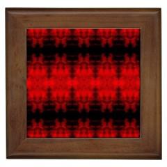 Red Black Gothic Pattern Framed Tiles by Costasonlineshop