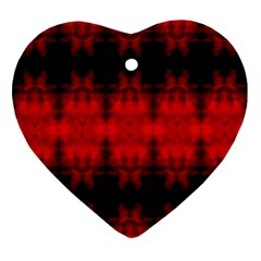 Red Black Gothic Pattern Ornament (heart)  by Costasonlineshop