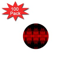 Red Black Gothic Pattern 1  Mini Buttons (100 Pack)  by Costasonlineshop