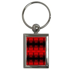 Red Black Gothic Pattern Key Chains (rectangle)  by Costasonlineshop