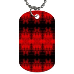 Red Black Gothic Pattern Dog Tag (two Sides) by Costasonlineshop