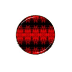 Red Black Gothic Pattern Hat Clip Ball Marker (4 Pack) by Costasonlineshop