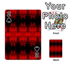 Red Black Gothic Pattern Playing Cards 54 Designs  by Costasonlineshop