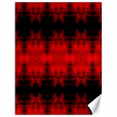 Red Black Gothic Pattern Canvas 12  X 16   by Costasonlineshop
