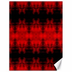 Red Black Gothic Pattern Canvas 18  X 24   by Costasonlineshop