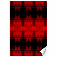 Red Black Gothic Pattern Canvas 20  X 30   by Costasonlineshop