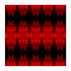 Red Black Gothic Pattern Medium Glasses Cloth by Costasonlineshop