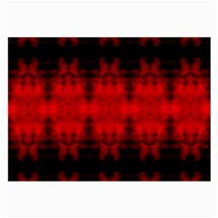 Red Black Gothic Pattern Large Glasses Cloth (2-Side) by Costasonlineshop