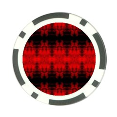Red Black Gothic Pattern Poker Chip Card Guards by Costasonlineshop