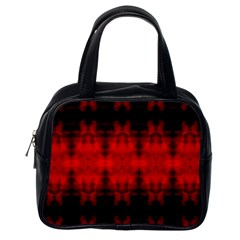 Red Black Gothic Pattern Classic Handbags (one Side) by Costasonlineshop
