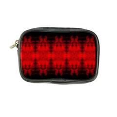 Red Black Gothic Pattern Coin Purse by Costasonlineshop