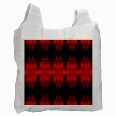 Red Black Gothic Pattern Recycle Bag (one Side) by Costasonlineshop
