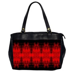 Red Black Gothic Pattern Office Handbags (2 Sides)  by Costasonlineshop