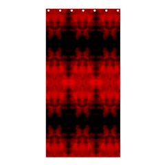Red Black Gothic Pattern Shower Curtain 36  X 72  (stall)  by Costasonlineshop