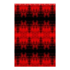 Red Black Gothic Pattern Shower Curtain 48  x 72  (Small)  by Costasonlineshop
