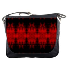 Red Black Gothic Pattern Messenger Bags by Costasonlineshop