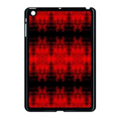 Red Black Gothic Pattern Apple Ipad Mini Case (black) by Costasonlineshop