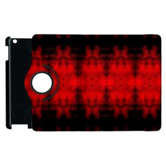 Red Black Gothic Pattern Apple Ipad 2 Flip 360 Case by Costasonlineshop