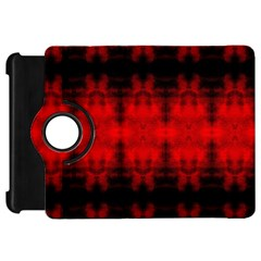 Red Black Gothic Pattern Kindle Fire Hd Flip 360 Case by Costasonlineshop