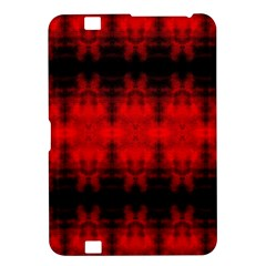 Red Black Gothic Pattern Kindle Fire Hd 8 9  by Costasonlineshop