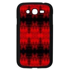 Red Black Gothic Pattern Samsung Galaxy Grand Duos I9082 Case (black) by Costasonlineshop