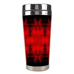 Red Black Gothic Pattern Stainless Steel Travel Tumblers by Costasonlineshop