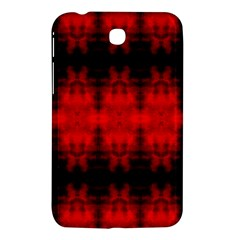 Red Black Gothic Pattern Samsung Galaxy Tab 3 (7 ) P3200 Hardshell Case  by Costasonlineshop
