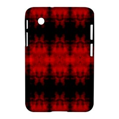 Red Black Gothic Pattern Samsung Galaxy Tab 2 (7 ) P3100 Hardshell Case  by Costasonlineshop