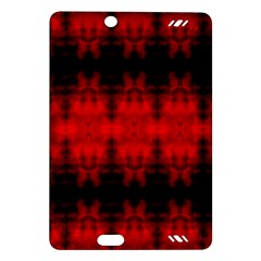 Red Black Gothic Pattern Kindle Fire HD (2013) Hardshell Case by Costasonlineshop