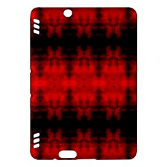 Red Black Gothic Pattern Kindle Fire Hdx Hardshell Case by Costasonlineshop