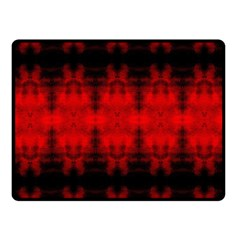 Red Black Gothic Pattern Double Sided Fleece Blanket (Small)  by Costasonlineshop