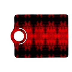 Red Black Gothic Pattern Kindle Fire Hd (2013) Flip 360 Case by Costasonlineshop