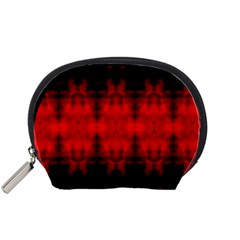 Red Black Gothic Pattern Accessory Pouches (small)  by Costasonlineshop