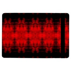Red Black Gothic Pattern Ipad Air Flip by Costasonlineshop