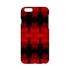 Red Black Gothic Pattern Apple Iphone 6/6s Hardshell Case by Costasonlineshop