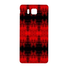 Red Black Gothic Pattern Samsung Galaxy Alpha Hardshell Back Case by Costasonlineshop