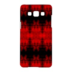 Red Black Gothic Pattern Samsung Galaxy A5 Hardshell Case  by Costasonlineshop