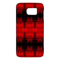 Red Black Gothic Pattern Galaxy S6 by Costasonlineshop