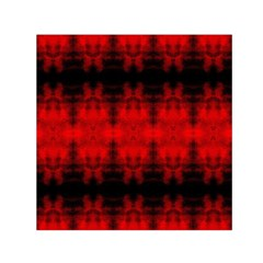 Red Black Gothic Pattern Small Satin Scarf (Square)  by Costasonlineshop