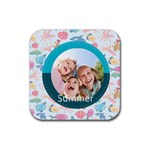 summer - Rubber Square Coaster (4 pack)