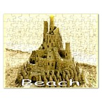 BEACH SANDCASTLE Template Puzzle - Jigsaw Puzzle (Rectangular)