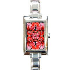 Beautiful Red Roses Rectangle Italian Charm Watches by Costasonlineshop