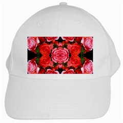Beautiful Red Roses White Cap by Costasonlineshop