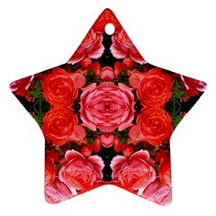 Beautiful Red Roses Ornament (star)  by Costasonlineshop