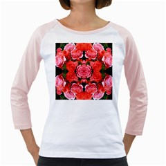 Beautiful Red Roses Girly Raglans by Costasonlineshop