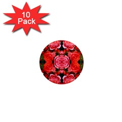 Beautiful Red Roses 1  Mini Magnet (10 Pack)  by Costasonlineshop