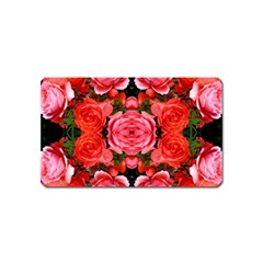 Beautiful Red Roses Magnet (Name Card) by Costasonlineshop